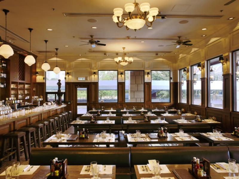 indoor restaurant with authentic belgian-style of interior
