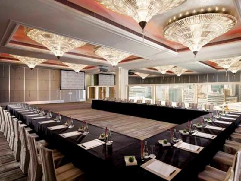 conference room setup for corporate event