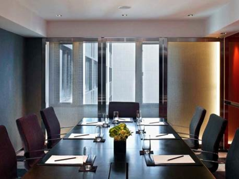 small meeting room that allow natural light from the window