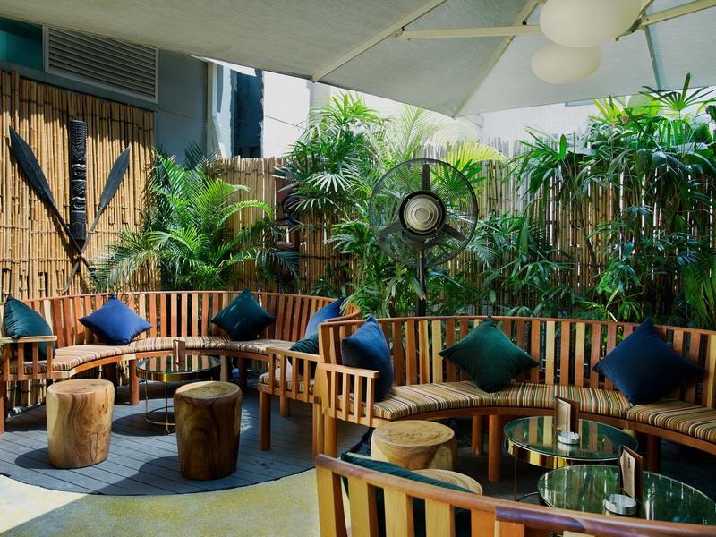 terrace area of honi honi cocktail lounge