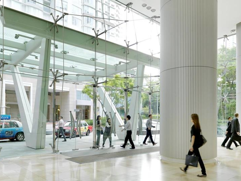 the lobby situation of three pacific building