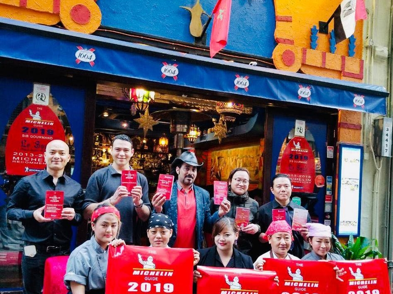 le souk's team received award as michelin guide restaurant