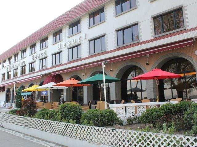 the exterior building of blue horizon cafe