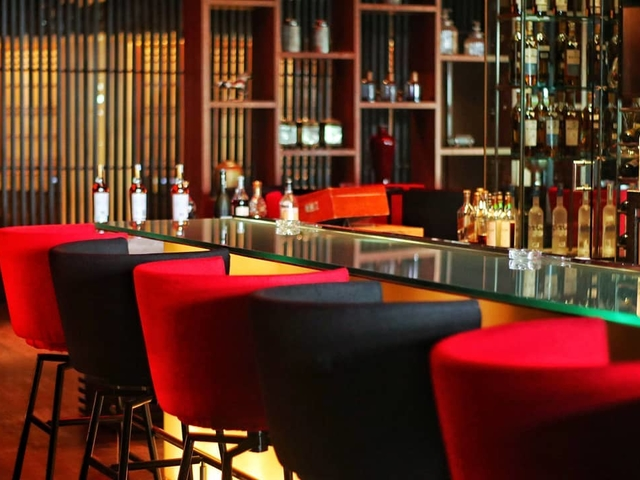 burgundy bar elegant for product launch event jakarta
