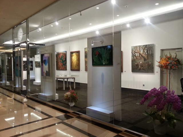 sunrise art gallery wine tasting event venue jakarta