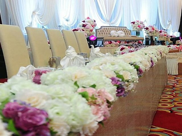 table decoratoin with flower for wedding party