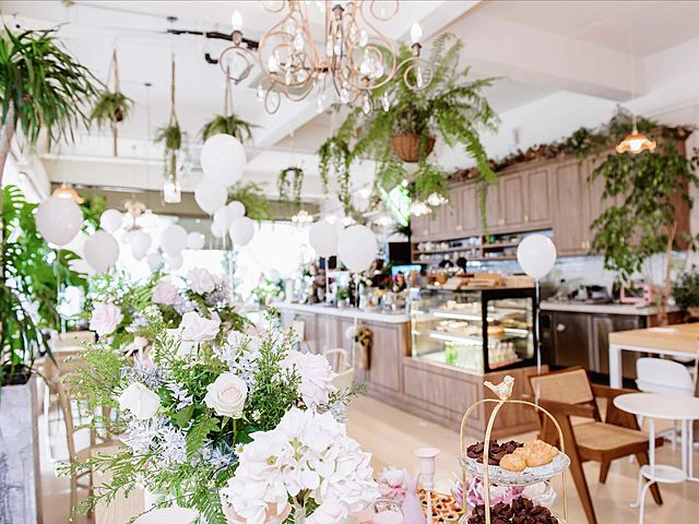 floral themed and instaworthy cafe for 21st birthday parties event