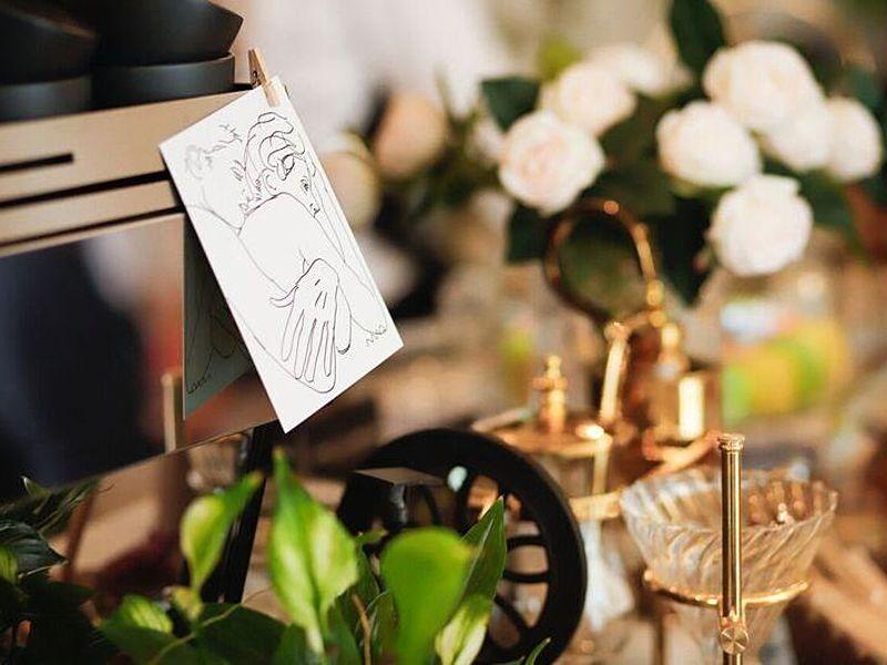 one of the art corner of cafe de nicole's flower