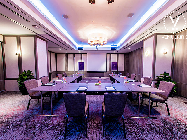 conference style of meeting at the private meeting room