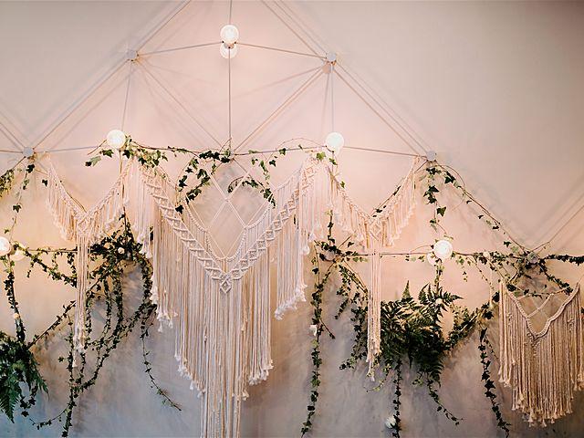 bohemian decoration for wedding in white theme