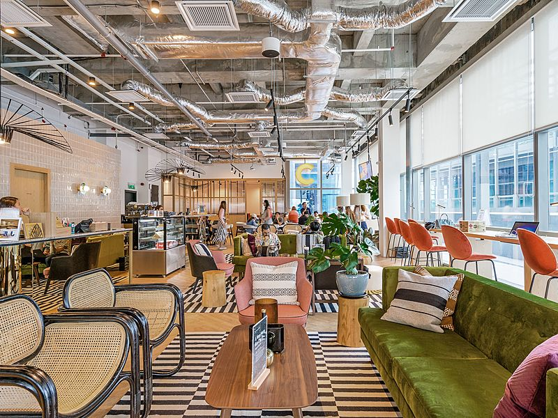 coworking space with mini cafe by common ground kl eco city