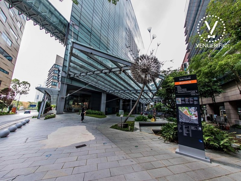 the exterior building of biopolis by jtc singapore
