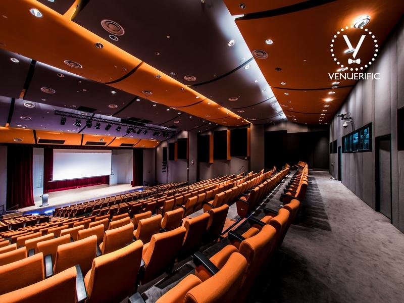 auditorium for corporate product launch event