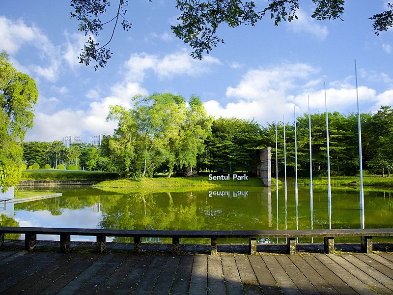 lakeside event venue in kuala lumpur with wooden floors