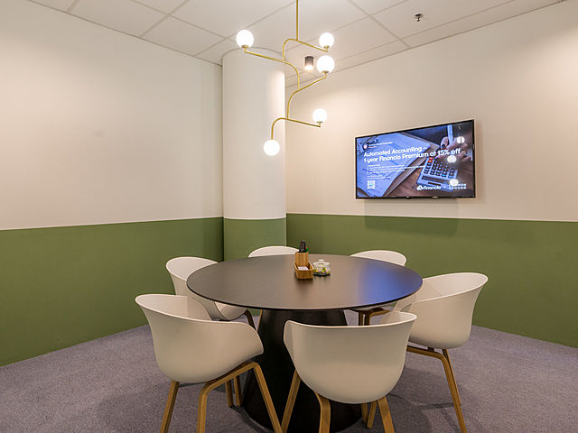 small meeting room for 6 pax using round table