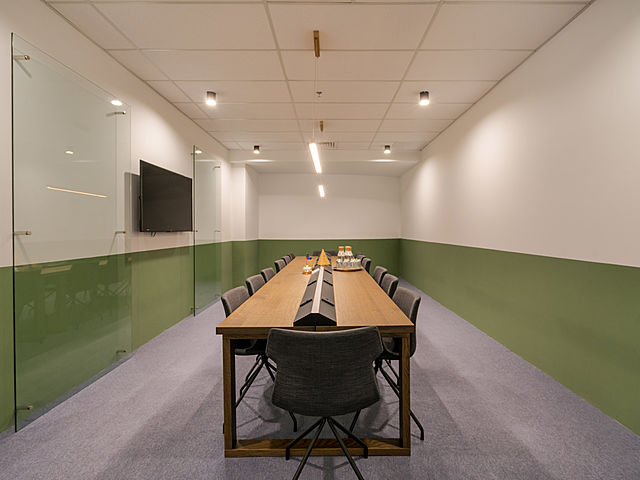 conference meeting setup in private room