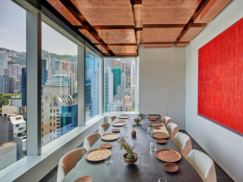 private dining room with the stunning view of hong kong