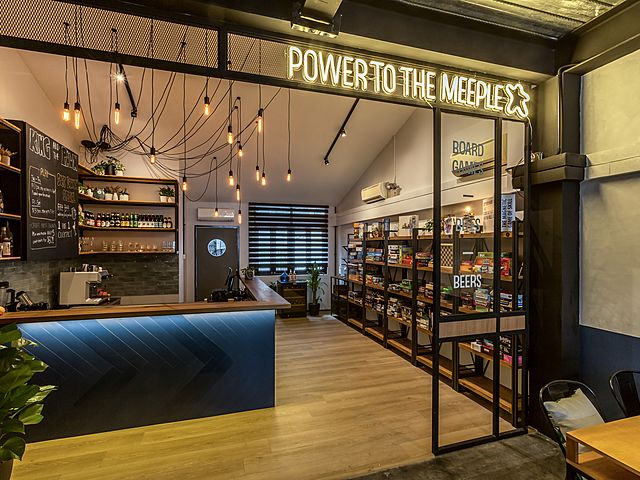 board game cafe with more than 300 games inside