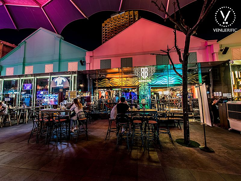 restaurant with outdoor alfresco area at clarke quay
