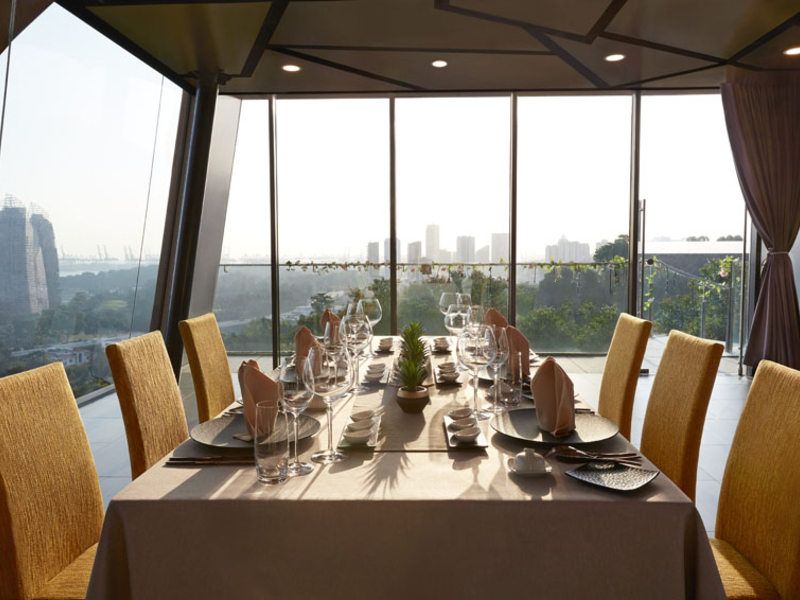 private event space encased with large glass walls and singapore city view