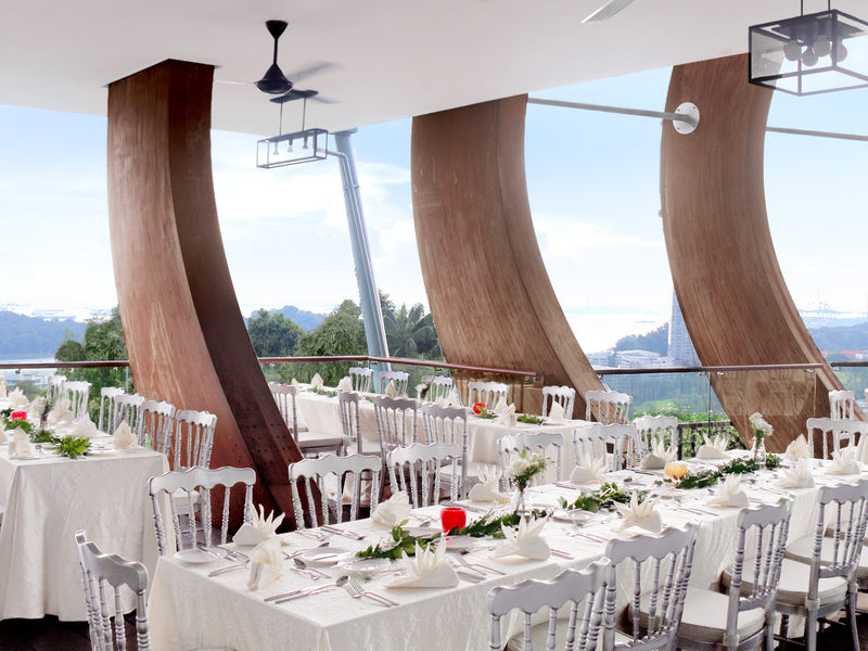 arbora hilltop dining function hall by mount faber peak singapore