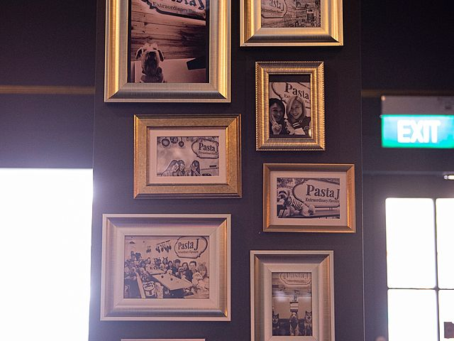 photo with gold frame for wall decoration