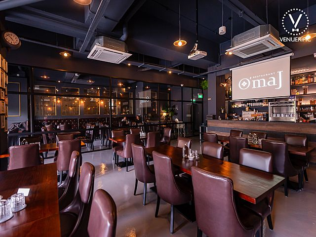omaj restaurant with classic interior for event space