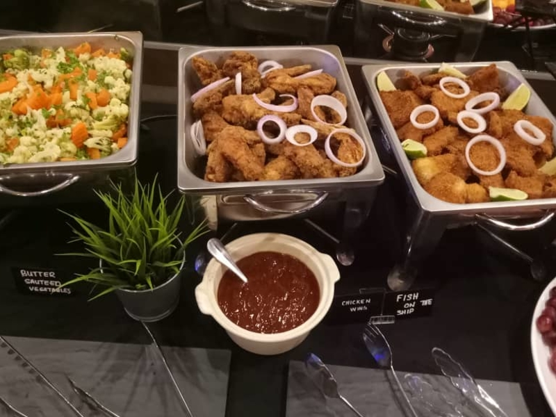 halal buffet menu served on the table
