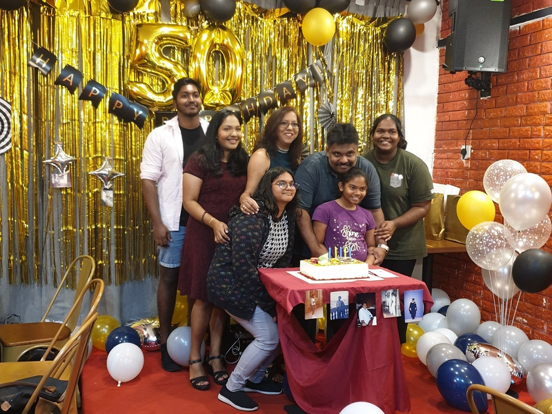 celebrate kids birthday party together with family