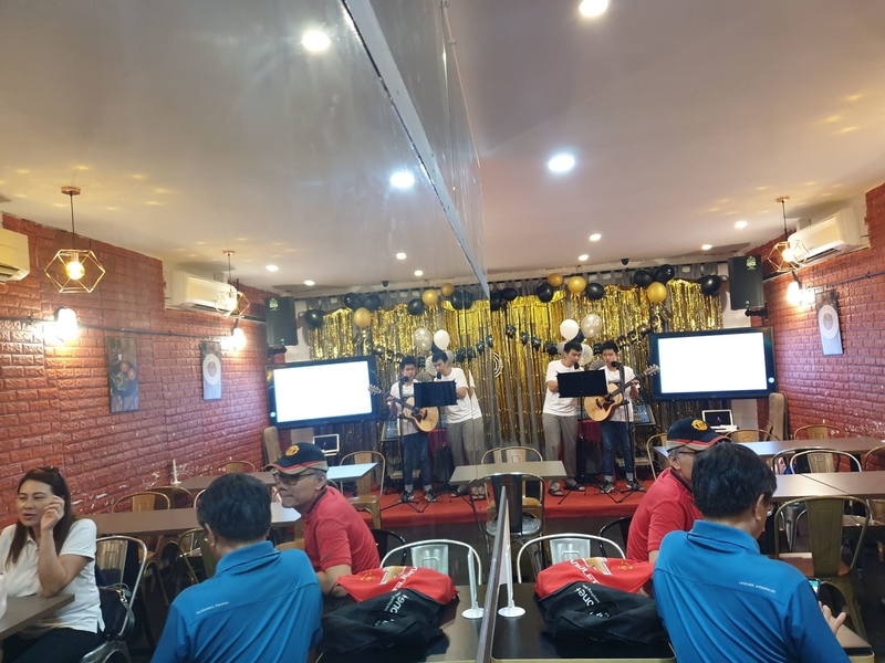 networking event with live music performance