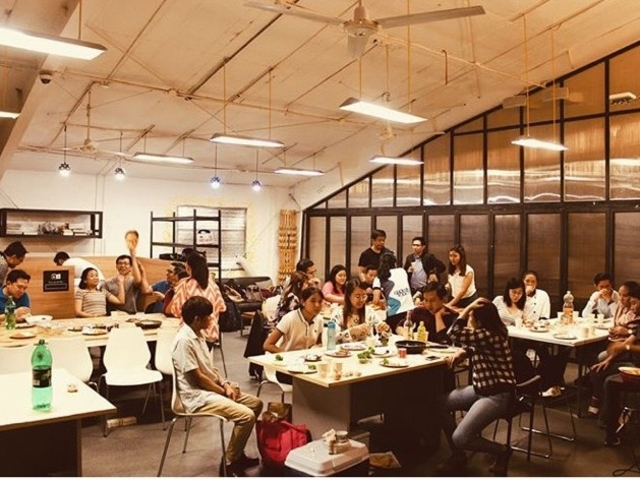 people attending seminar event in makati large coworking space
