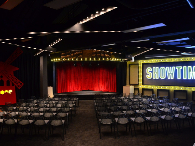 event space for product launch with 100 capacity in theater style