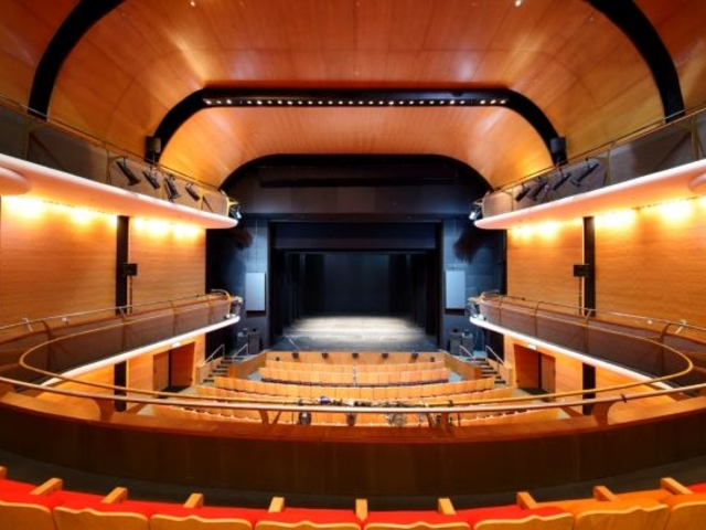 auditorium with theatre seating and and orchestra pit on the front stage