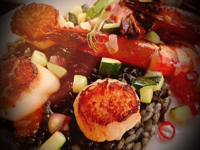 risotto with scallop and shrimp