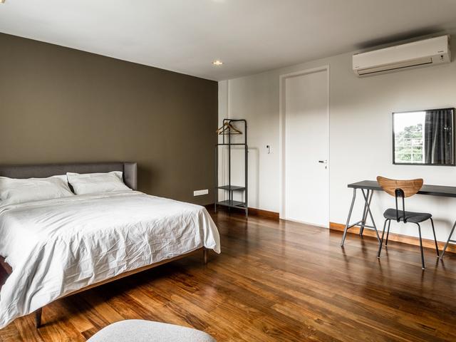 minimalist bedroom from changkat duta luxury villa