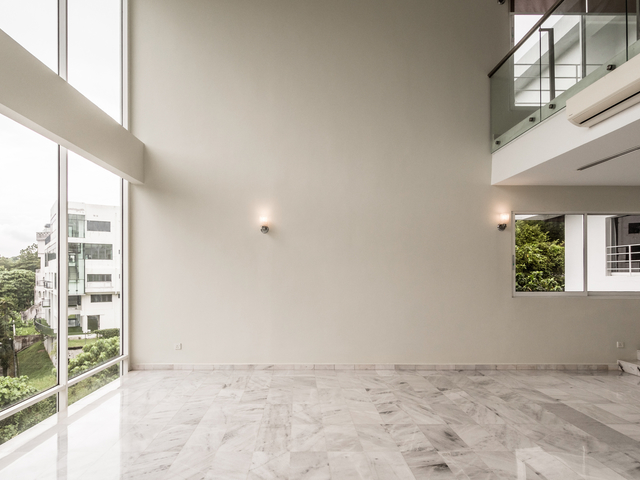 venue with natural light from the glass window