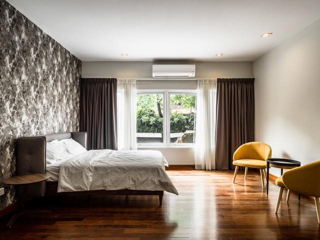bedroom inside the villa for overnight stay