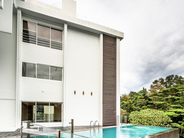 private villa with pool and view of kuala lumpur city centre