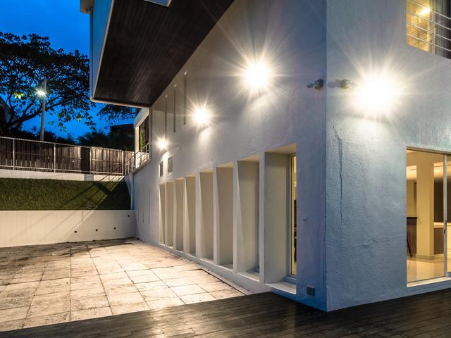 outdoor area of the private villa