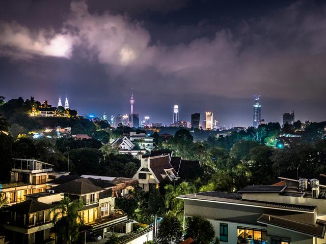 night view of kuala lumpur city centre