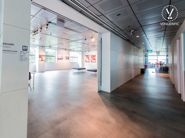 art gallery event space for company dinner and dance