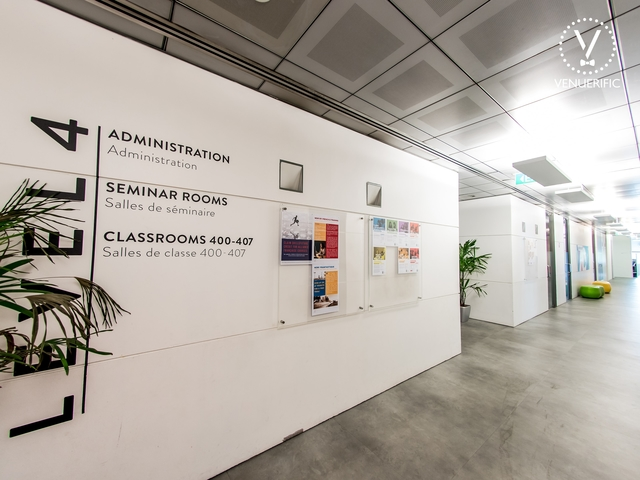 alley of level 4 at alliance francaise de singapour with signboard on the wall