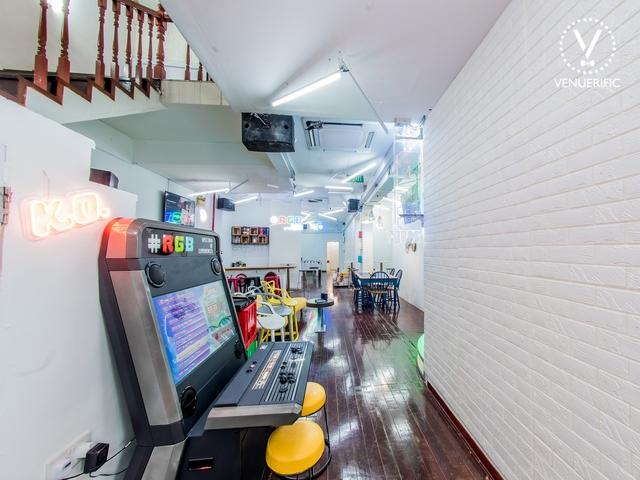 minimalist with fun interior and game machine room
