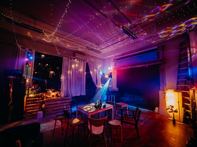 birthday party venue in singapore with high ceiling and fairy lights