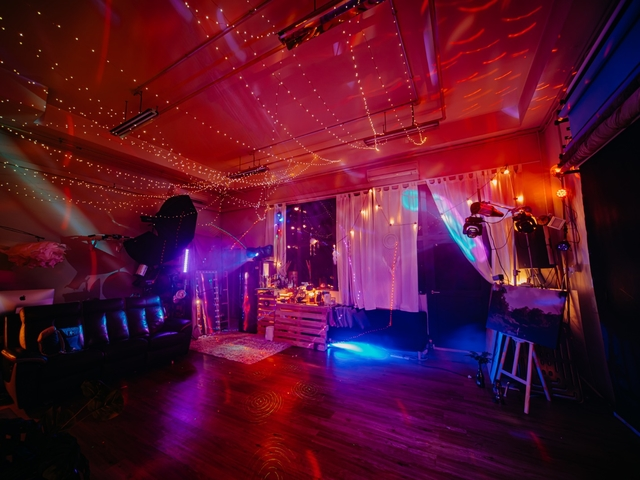 small party venue in singapore with red lights