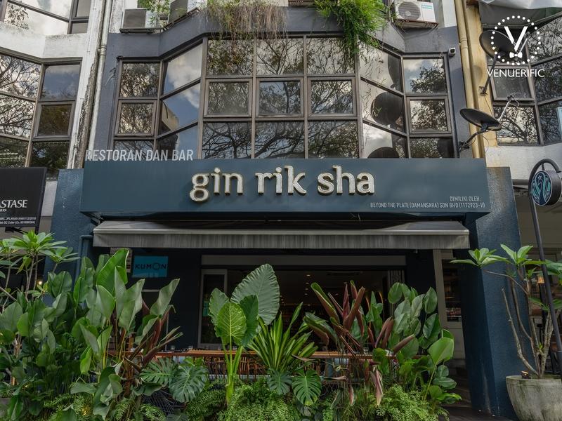 the exterior building of gin rik sha restaurant