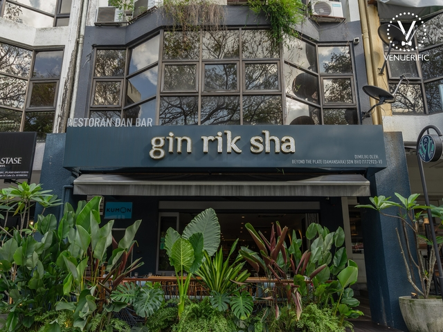 the exterior building of gin rik sha restaurant