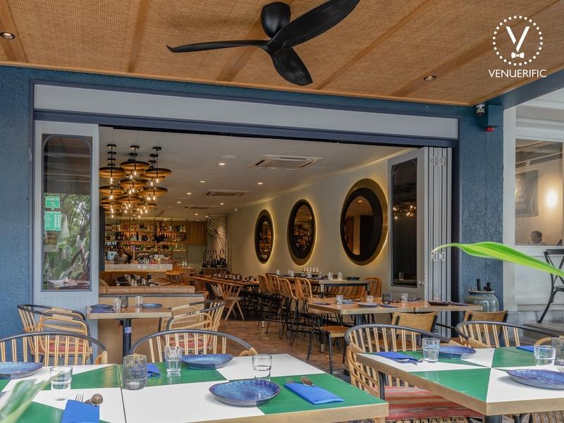 modern interior restaurant look from outside
