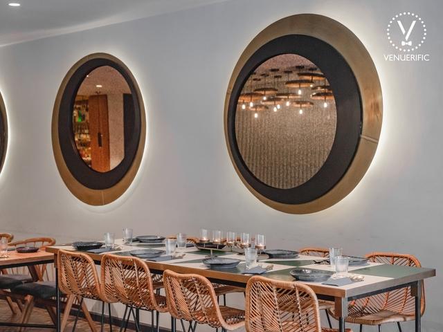 mirror decoration for restaurant's interior