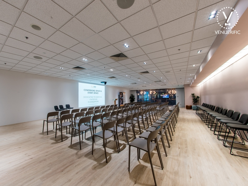 theatre setting of event space for corporate training and seminar
